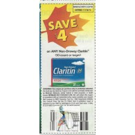 Claritin $4/1 non-drowsy (30-count or larger) (11/16)