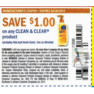 clean & clear Product x4/30 (save $1 off 1)