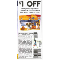 Dentastix Deep Clean or Dentastix treats for dogs x6/7 (save $1 off 1)