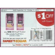 Family Dollar coupons - $1/1 Poise product, excludes poise 24ct and 26 ct liners (10/11)