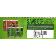 Fiora 12 roll Bath Tissue or 8 roll paper towels x4/30 (save $.55 off 1)