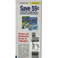 2000 Flushes $.55/1 Automatic Toilet Bowl Cleaner (12/31)