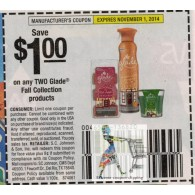Glade $1/2 Fall Collection products (11/1)