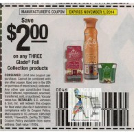 Glade $2/3 Fall Collection products (11/1)