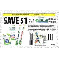 Sunstar Gum Oral Care products x5/31 (save $1 off 2)