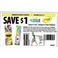 sunstar gum Squeeze-A-Color Toothpaste or Power toothbrush x5/31 (save $1 off 1)