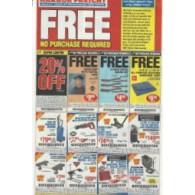 Harbor Freight 5 full sheets uncut- 20 % , FREE Headlamp, Free 6 piece brush set, FREE Tarp. No purchase necessary (2/19)