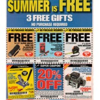 Harbor Freight coupons-FREE flashlight, FREE Digital multimeter, FREE tape measure, 20% off (11/13) 5 full sheets of coupons**uncut