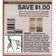 Jergens Natural Glow Face Daily moisturizer suncreen x5/10 (save $1 off 1)