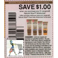 Jergens Natural Glow Moisturizer x5/10 (save $1 off 1)