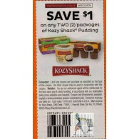 Kozy Shack $1/2 Pudding packages (11/30)