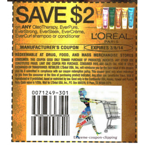 graphic about Loreal Printable Coupons named Loreal shampoo coupon printable : Chase financial institution fresh monitoring coupon
