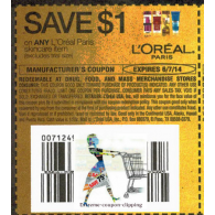 L'oreal paris Skincare item x6/7 (save $1 off 1)