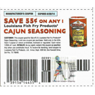 Louisiana Fish Fry Cajun Seasoning x6/30 (save $.55 off 1)