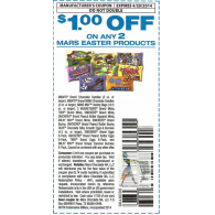 Mars easter products x4/20 (save $1 off 2) dnd *view pic for full details