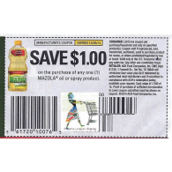 Mazola $1/1 Oil or spray product (10/26)