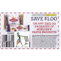 Mueller's $1/2 Pasta products (11/20)