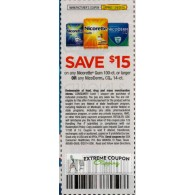 Nicorette $15/1 Gum 100ct or larger or any NicoDerm CQ 14ct (12/6)