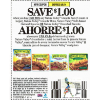 Nature Valley $1/1 granola bars 5ct+, granola thins, soft-baked oatmeal squares or breakfast biscuits (9/6)