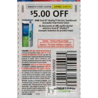 Oral-b $5/1 Vitality Electric Toothbrush etts (12/7)
