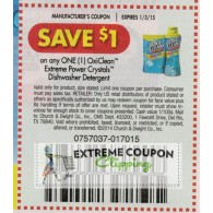 OxiClean $1/1 Extreme Power Crystals dishwasher detergent (1/3)