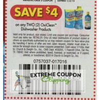 OxiClean $4/2 Dishwasher Products (1/3)
