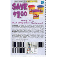 Play-doh $1 off purchase of $2.50 or more (10/11)
