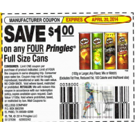 pringles full size cans x4/20 (save $1 off 4)