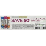 Pure $.50/1 Silk Shave Cream 8oz excludes other sizes (12/6)