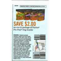 purina pro plan dog snacks x5/19 (save $2 off 1)