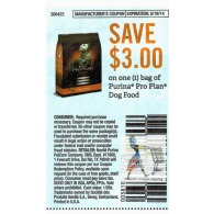 Purina Pro Plan Dog food x5/19 (save $3 off 1)