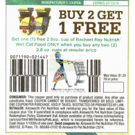 Rachael Ray Nutrish wet cat food only x7/13 (B2G1) up to 1.29