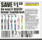 Reach toothbrush except crystal clean x8/16 (save $1 off 1) dnd