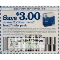 Renu $3/1 2x12 fresh twin pack  (1/2)