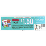 Rubbermaid $1.50/1 lunchblox sandwich, salad, entree or kids lunch kit (9/20)