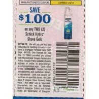Schick $1/2 Hydro Shave Gels (1/4)