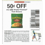 Simply potatoes hash browns x6/8 (save $.50 off 1)