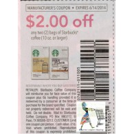 Starbucks coffee bag 10oz+ x6/14 (save $2 off 2) DND