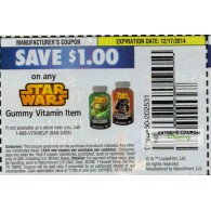 Star Wars $1/1 Gummy Vitamin item (12/17)