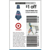 Target coupons Crest 3D white rinse x5/9 (save $1 off 1)