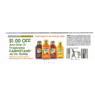 Tropicana $1/1 farmstand 46oz bottle excludes pure premium and trop50 (9/21)