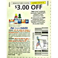 Vicks $3/2 products excludes vapodrops and zzzquil