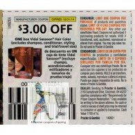 Vidal Sassoon $3/1 hair color, excludes shampoo, conditioner, styling & ets (10/31)