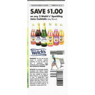Welch's Sparkling Juice Cocktails x6/16 (save $1 off 2)