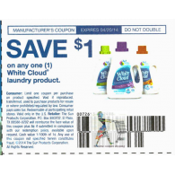 White Cloud laundry product x4/30 (save $1 off 1) dnd