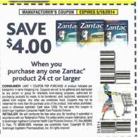 Zantac 24ct or order x5/18 (save $4)